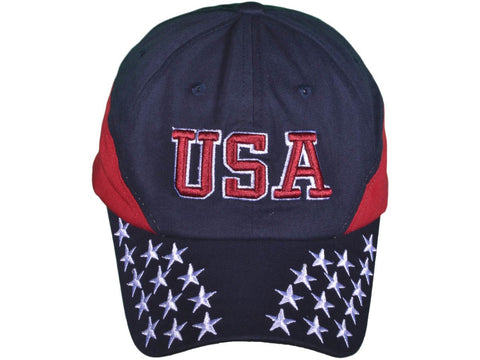 USA Patriotic 6 Panel Unstructured Cotton Twill Cap