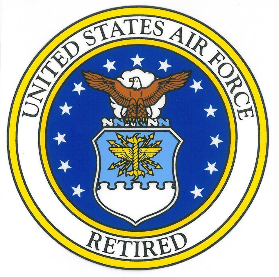 "USAF Retired  Air Force Seal 3.5"" Decal"