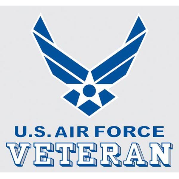 USAF Veteran Wing Logo 3.5 x 3.25' Decal