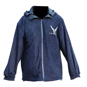 U.S. Air Force Reversible Two Tone Windbreaker/Fleece Jacket