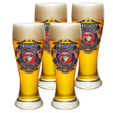 USMC Badge Of Honor Pilsner Glasses Set-Military Republic