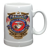 USMC Badge Stoneware Mug Set-Military Republic