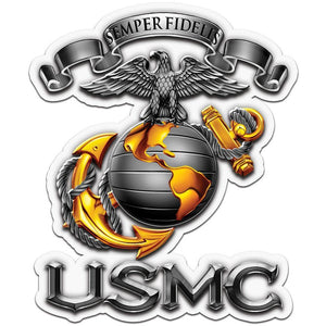 USMC Decal Trio Pack-Military Republic