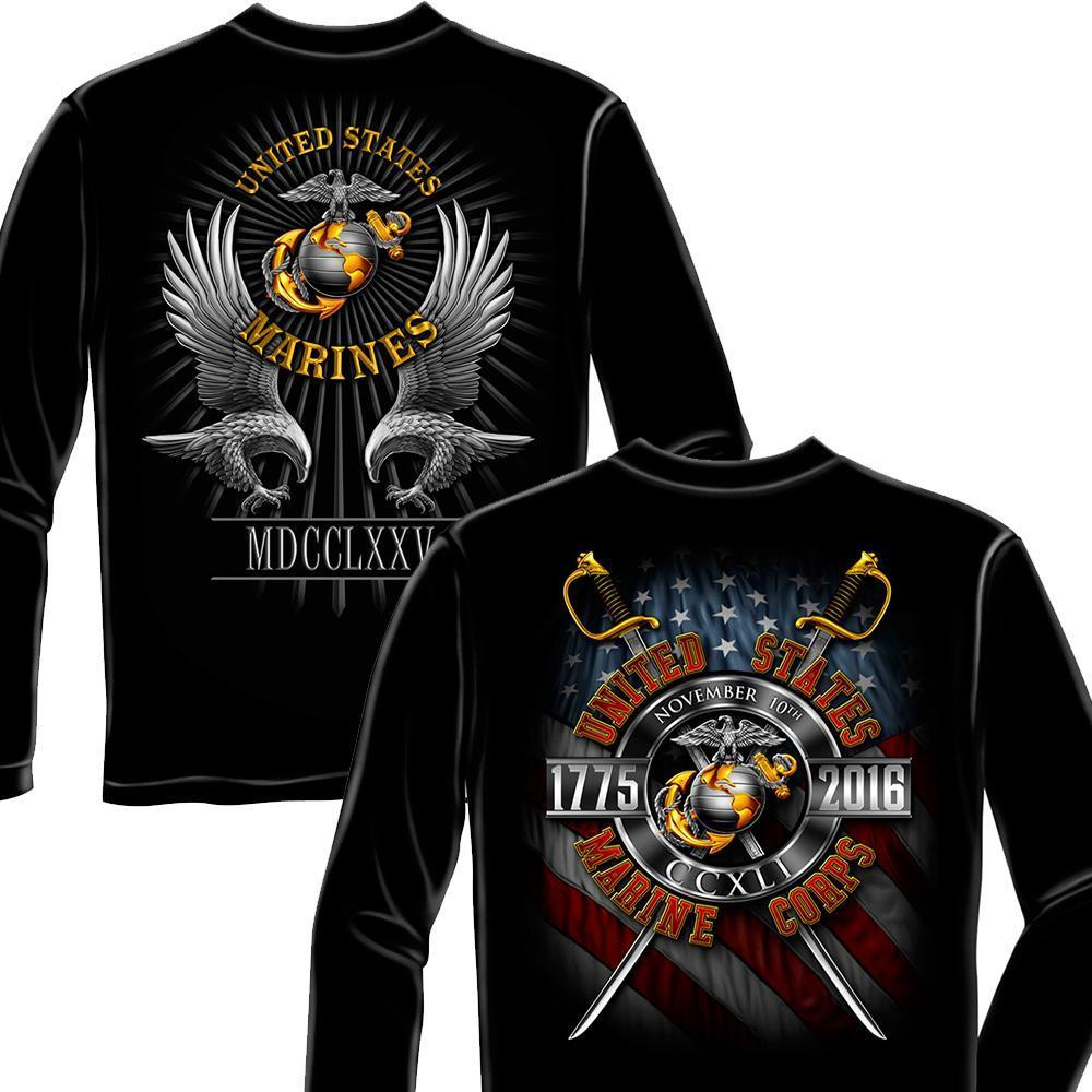 USMC Birthday Collectors Long sleeve Gift Pack-Military Republic
