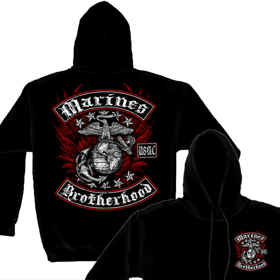 USMC Brotherhood Hoodie-Military Republic