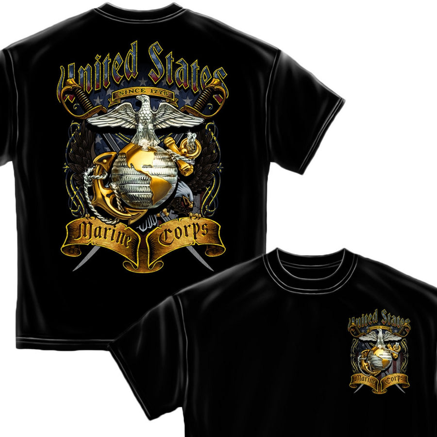USMC Crossed Swords T-Shirt-Military Republic