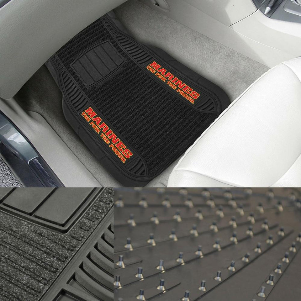 USMC Deluxe Car Mats-Military Republic