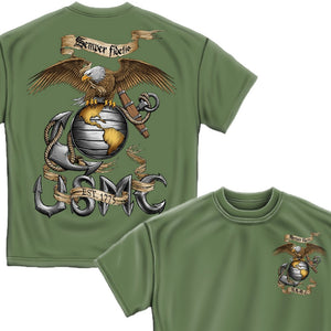 USMC Eagle Green T-Shirt-Military Republic