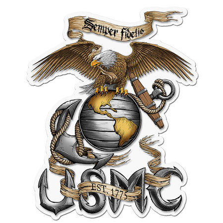 USMC Eagle Semper Fidelis DeCal-Military Republic