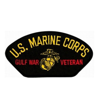 USMC Gulf War Veteran Insignia Black Patch (4 inch)
