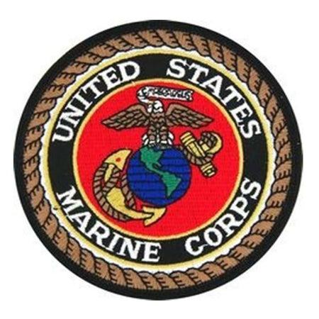 USMC Insignia Patch (4 inch)-Military Republic