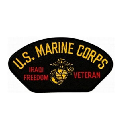 USMC Iraqi Freedom Veteran Insignia Black Patch (4 inch)
