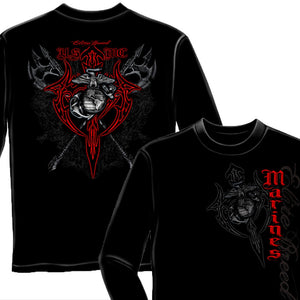 USMC Marine Tribal T-Shirt-Military Republic