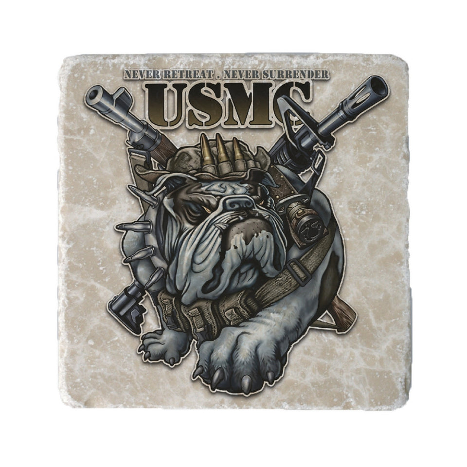 USMC Never Retreat Never Surrender Coaster-Military Republic