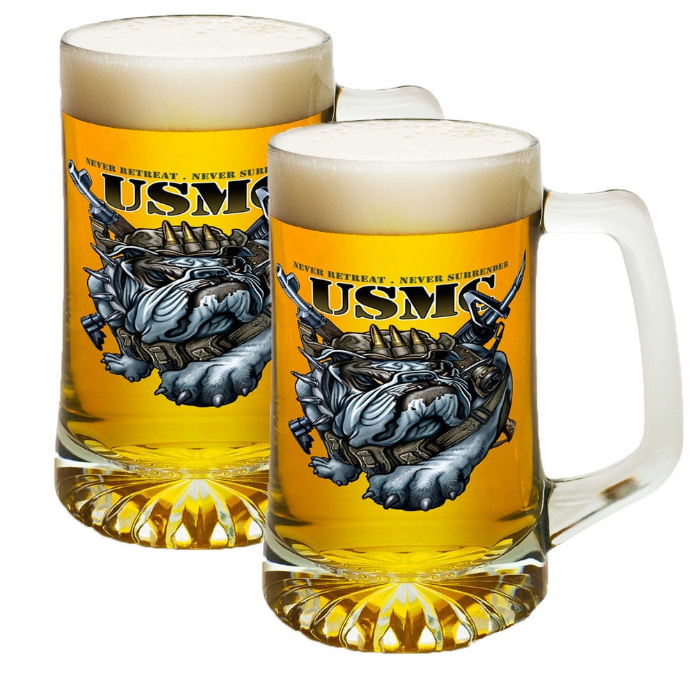 USMC Never Retreat Tankard-Military Republic