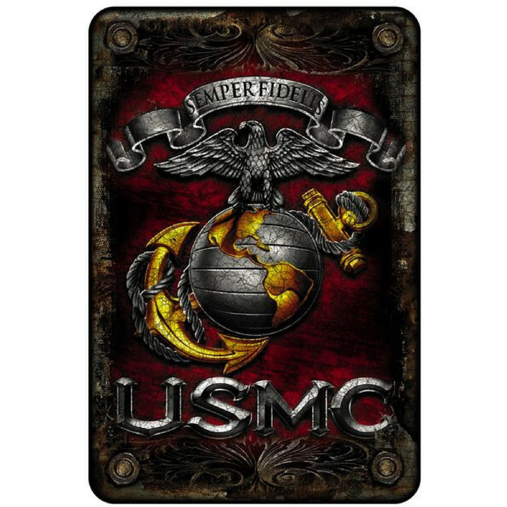 USMC Semper Fi Aluminum Sign-Military Republic