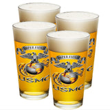 USMC Semper Fidelis Eagle Pint Glasses-Military Republic