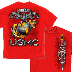 USMC Semper Fidelis T Shirt-Military Republic