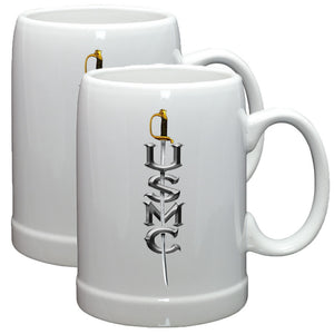 USMC Sword Stoneware Mug Set-Military Republic