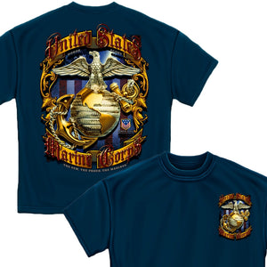 USMC Traditional Foil T-Shirt-Military Republic