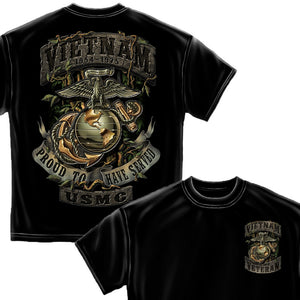 USMC Vietnam Veteran T-Shirt-Military Republic