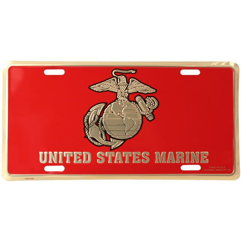 USMC with Eagle Globe and Anchor License Plate