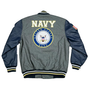 Varsity US NAVY Jacket-Military Republic