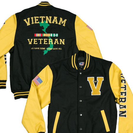 Varsity US VIETNAM Veteran Jacket-Military Republic