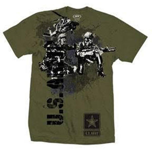 Vertical U.S. Army T-Shirt-Military Republic