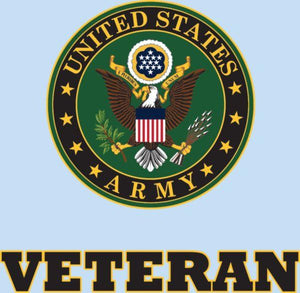 "Veteran with U.S. Army Crest 3.75""x3.5"" Decal"