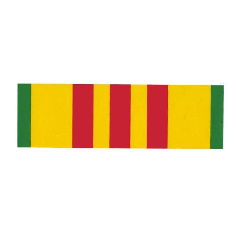 "Vietnam Service Ribbon 3""x9"" Bumper Sticker-Military Republic"