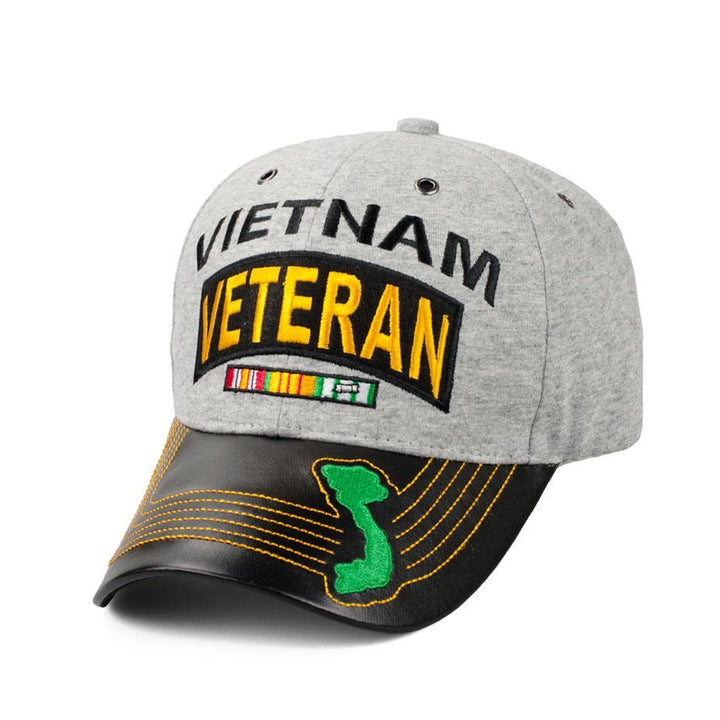 Vietnam Veteran Jersey Hat with Map-Military Republic