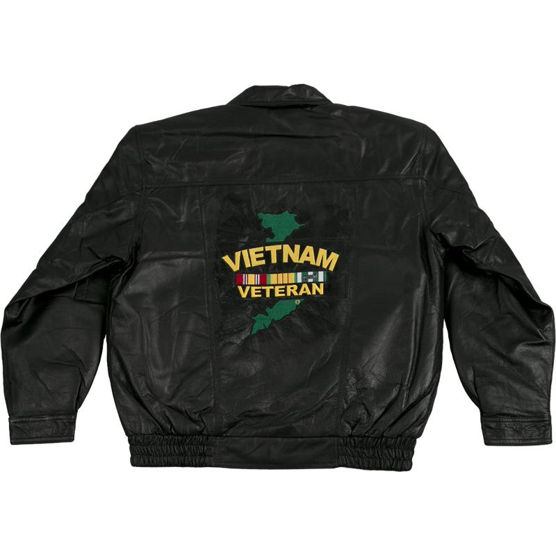 Vietnam Veteran Leather Jacket-Military Republic