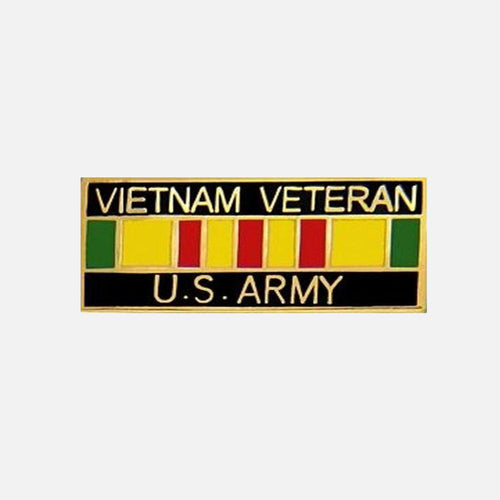 Vietnam Veteran U.S. Army with Ribbon Pin