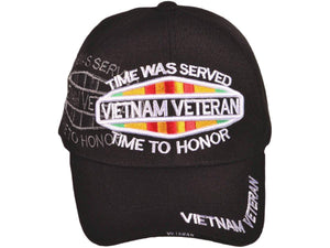 Vietnam Veteran with Shadow Military Baseball Hat-Military Republic
