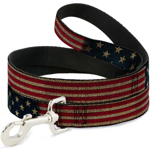 Dog Leash - Vintage Stretched US Flag