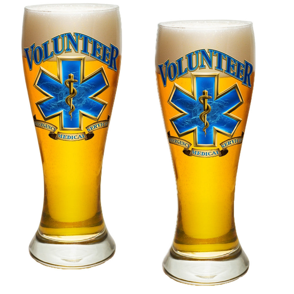 Volunteer EMS Pilsner Glass Set-Military Republic