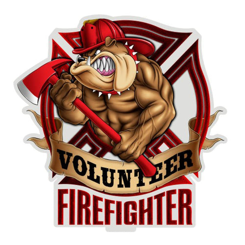 Volunteer Fire Dog Decal-Military Republic