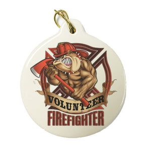 Volunteer Firefighter Christmas Ornament-Military Republic