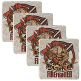 Volunteer Firefighter Coaster-Military Republic