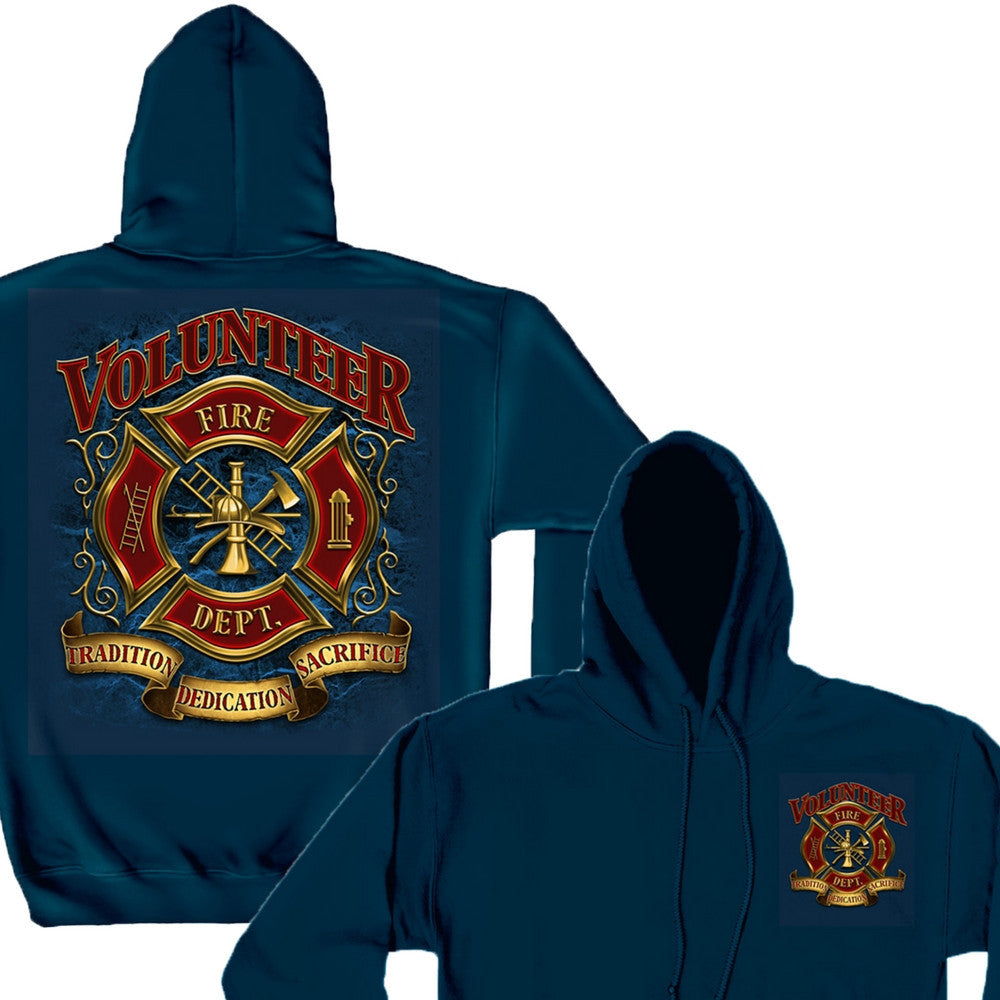 Volunteer Firefighter Hoodie-Military Republic