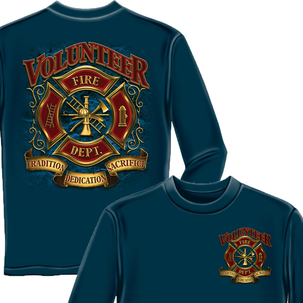 Volunteer Firefighter Long Sleeve Shirt-Military Republic