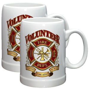 Volunteer Firefighter Stoneware Mug Set-Military Republic