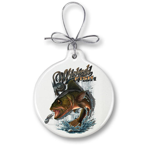 Walleye Fishing Christmas Ornament