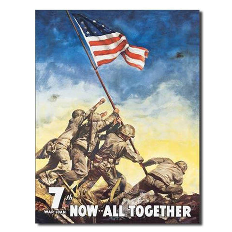 War Bonds - IWO JIMA Tin Sign-Military Republic