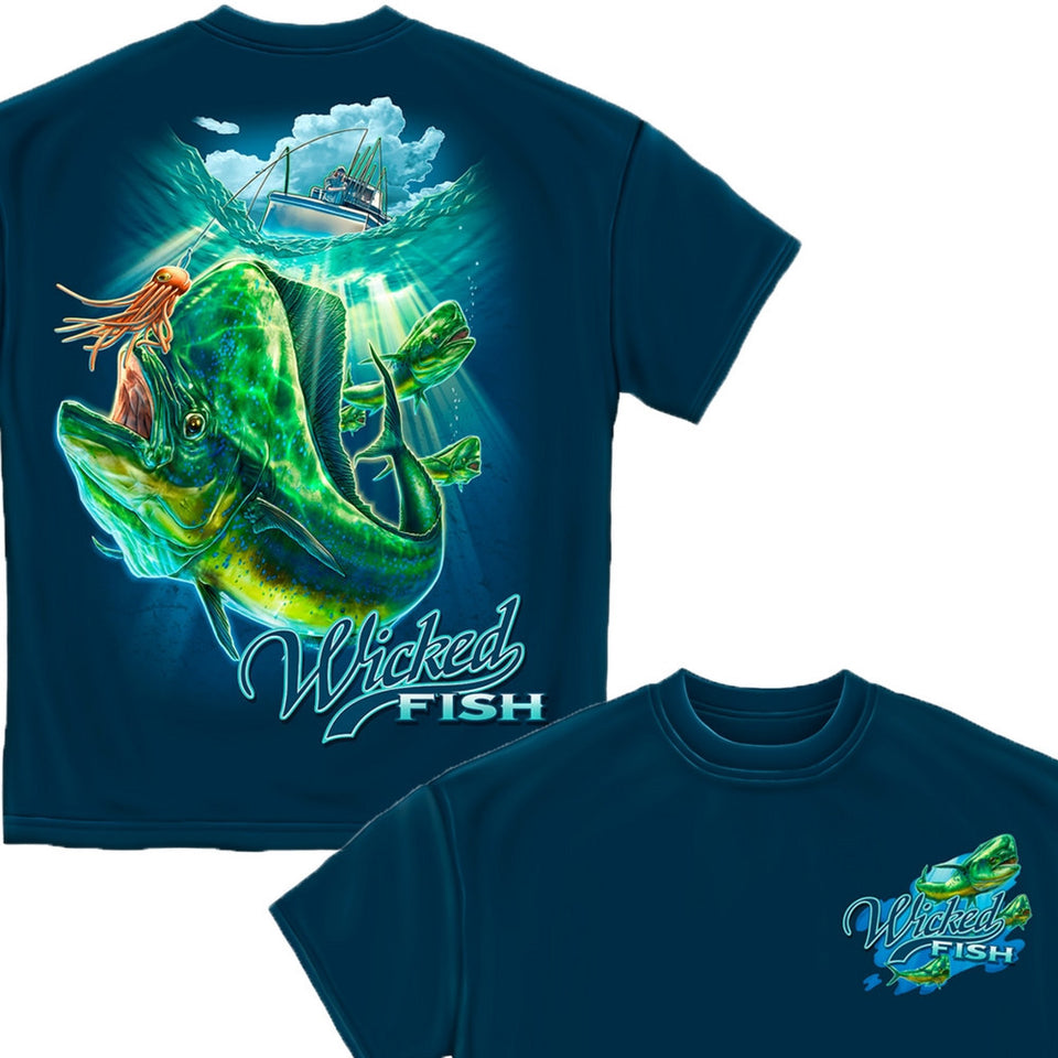 Wicked Fish Mahi Mahi T-Shirt-Military Republic