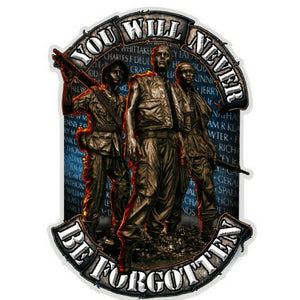 You Will Never Be Forgotten Decal-Military Republic