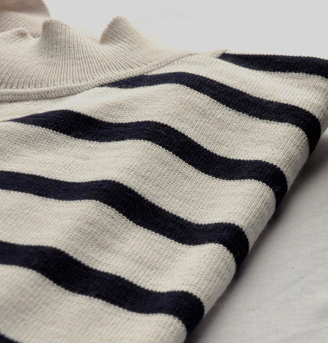 Organic Wool Jumper Striped Ethical Fashion