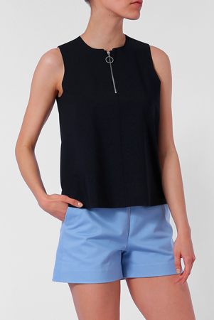 Ecofriendly black sleeveless top