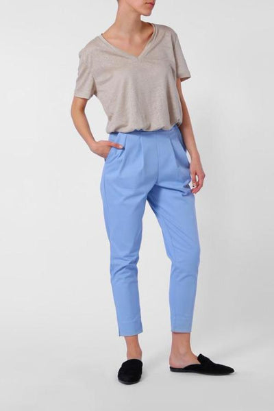 organic cotton blue trousers ethical fashion JanNJune